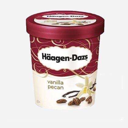 Dessert tiramisu et glace haagen dazs